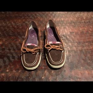 Sperry Plaid and Leather Shoe- Unworn